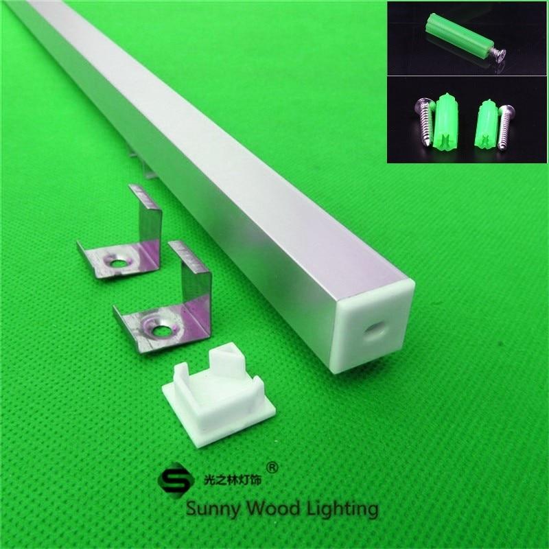 perfil de aluminio forma conduziu canal pingente luzes 03