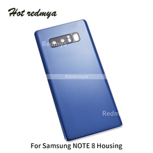 10pcs Note 8 Back Cover For Samsung Galaxy N950 Full Housing Door Rear Battery Case+Camera Lens with Sticker