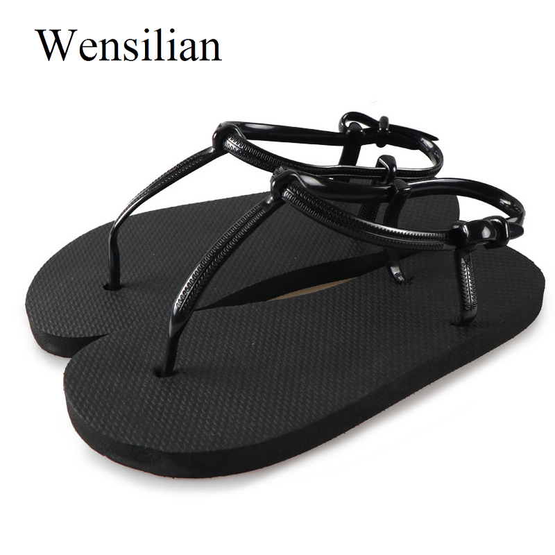 Summer Gladiator Sandals Women Flat Sandals Female T-tied Flip Flops Beach Shoes Slides Ladies Flat Shoes Casual Zapatos Mujer 2016 flower women sandals flat flip flops bohemian gladiator sandals women summer style fashion beach slippers zapatos mujer