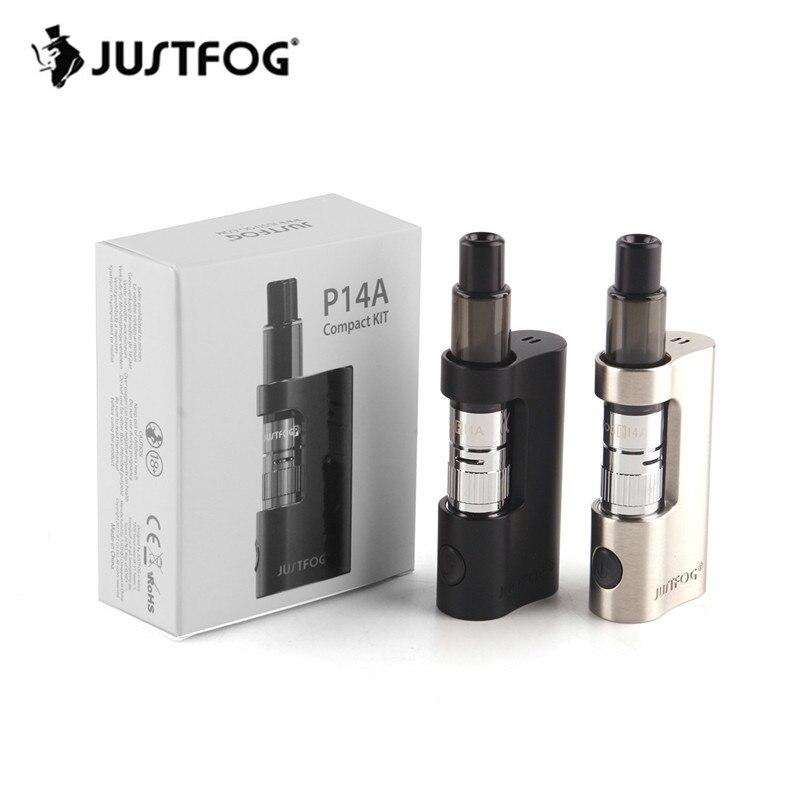 10 個 JUSTFOG P14A コンパクトキット蒸気を吸うミニボックス Mod キット内蔵 900 mah バッテリ P14A 1.6ohm clearomizer コイル VS JUSTFOG Q14  グループ上の 家電製品 からの 電子タバコキット の中 1