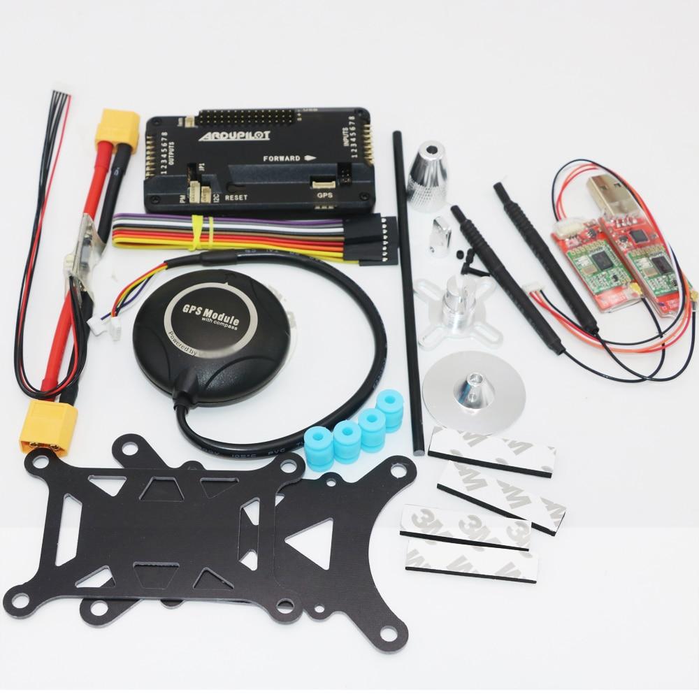 цена на APM APM2.8 Flight Controller Board +Shock Absorber + M8N 8M GPS+ 915Mhz Telemetry+ Stand Holder Power Module For FPV