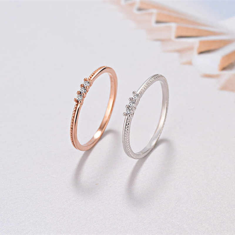97891be9532 Luxury 925 Sterling Silver Cute Cocktail Finger Ring for Teen Girls Rose  Gold Cute CZ Engagement Rings for Women Fashion Jewelry