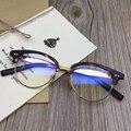 Los hombres de Moda Marcos de Anteojos de Marca Retro Mujeres Acetato Mitad-borde Eyewear Frames Oculos de grau Gafas Mypoia Nueva Alta calidad