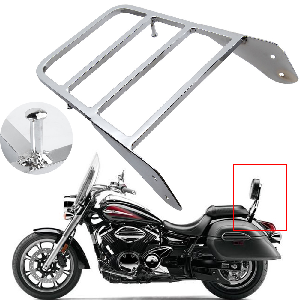 For Yamaha V-Star 400 650 1100 Classic XVS 1998-2011 /Dragstar XVS 1100 00-11 Chrome Motorcycle Backrest Sissy Bar Luggage Rack стоимость