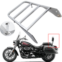 For Yamaha V Star 400 650 1100 Classic XVS 1998 2011 /Dragstar XVS 1100 00 11 Chrome Motorcycle Backrest Sissy Bar Luggage Rack