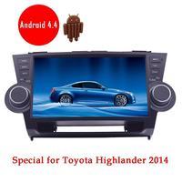 Android in Dash Car NO DVD GPS Player Per Toyota HIGHLANDER 2014 Auto Video radio Impianto Audio wifi navigatore gps volante