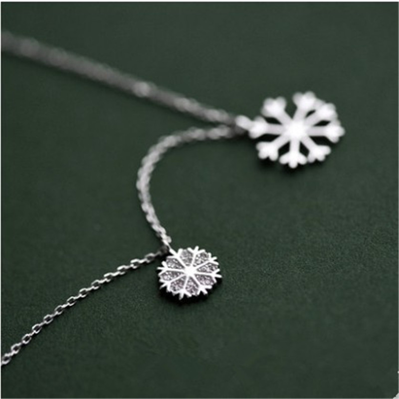 925 sterling silver Pendant necklace Snow round set drill Women 39 s fashion jewelry in Pendant Necklaces from Jewelry amp Accessories