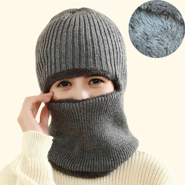 Latest Hot Selling Multi Functional Knit Cap Balaclava Mask Winter Wool Hats  Adult Men Women Thick 9da75d730ce