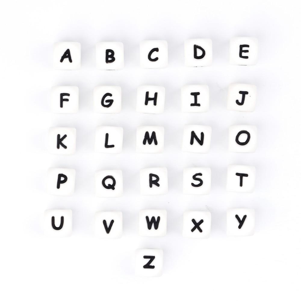 50-1000pc Letër alfabeti Silicone Baby Beat Beething Emri i - Kujdesi për foshnjen - Foto 2