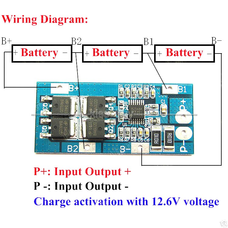 12 volt dc switch wiring diagram 3s 3 pack 18650 li ion lithium battery cell bms protection  3s 3 pack 18650 li ion lithium battery cell bms protection