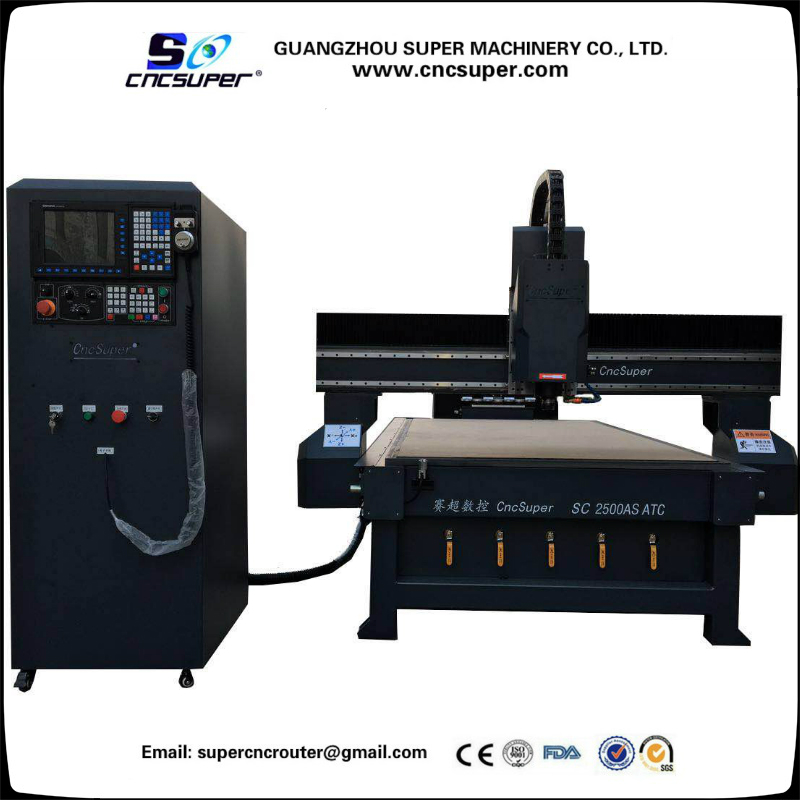 Four positions Row Type Knife Library Automatic Tool Changer ATC woodworking CNC Router Multi functional 3D engraving machine