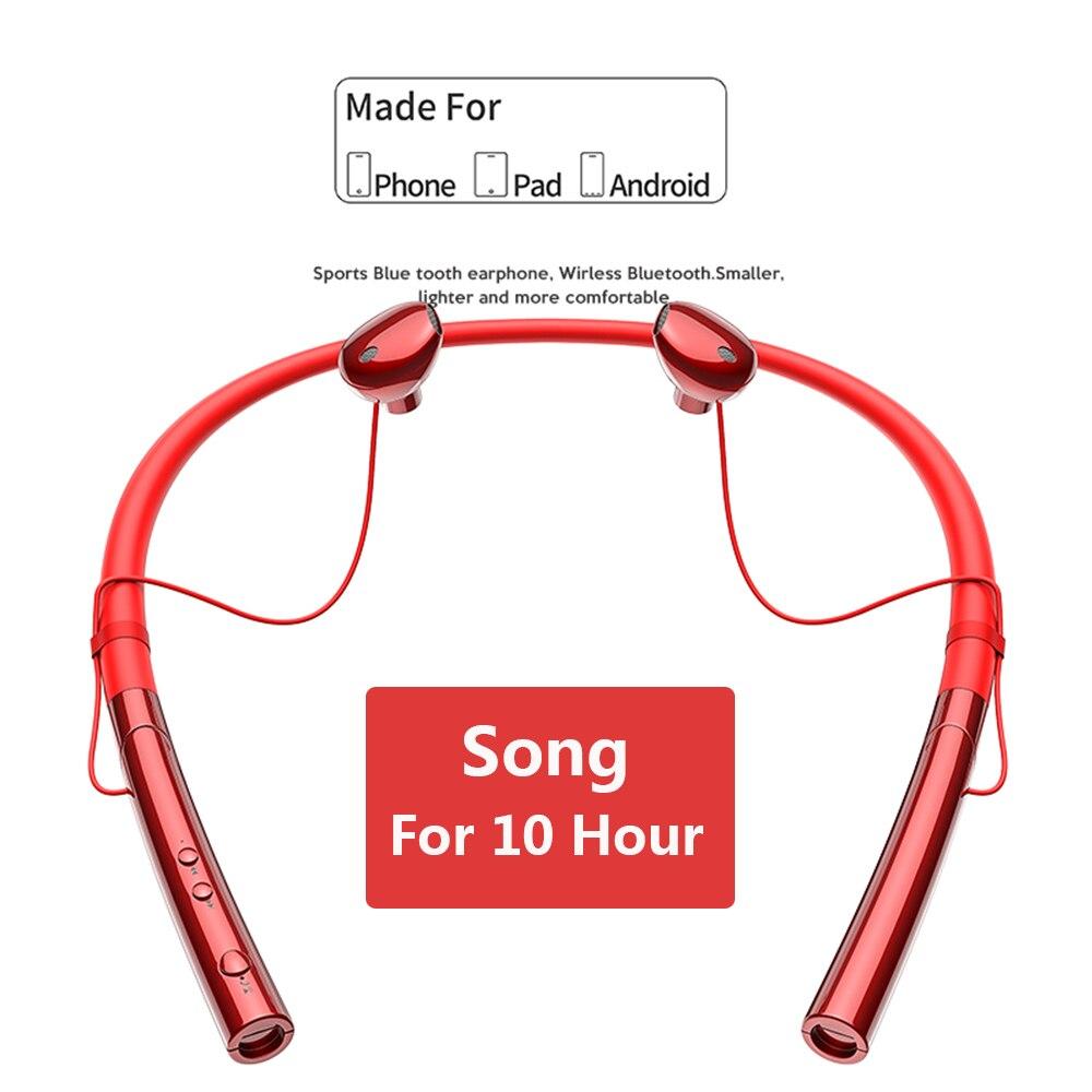 Sport Bluetooth casque écouteur pour téléphone écouteurs V5.0 stéréo tour de cou sans fil écouteurs pour Samsung pour iPhone Xiaomi oreille