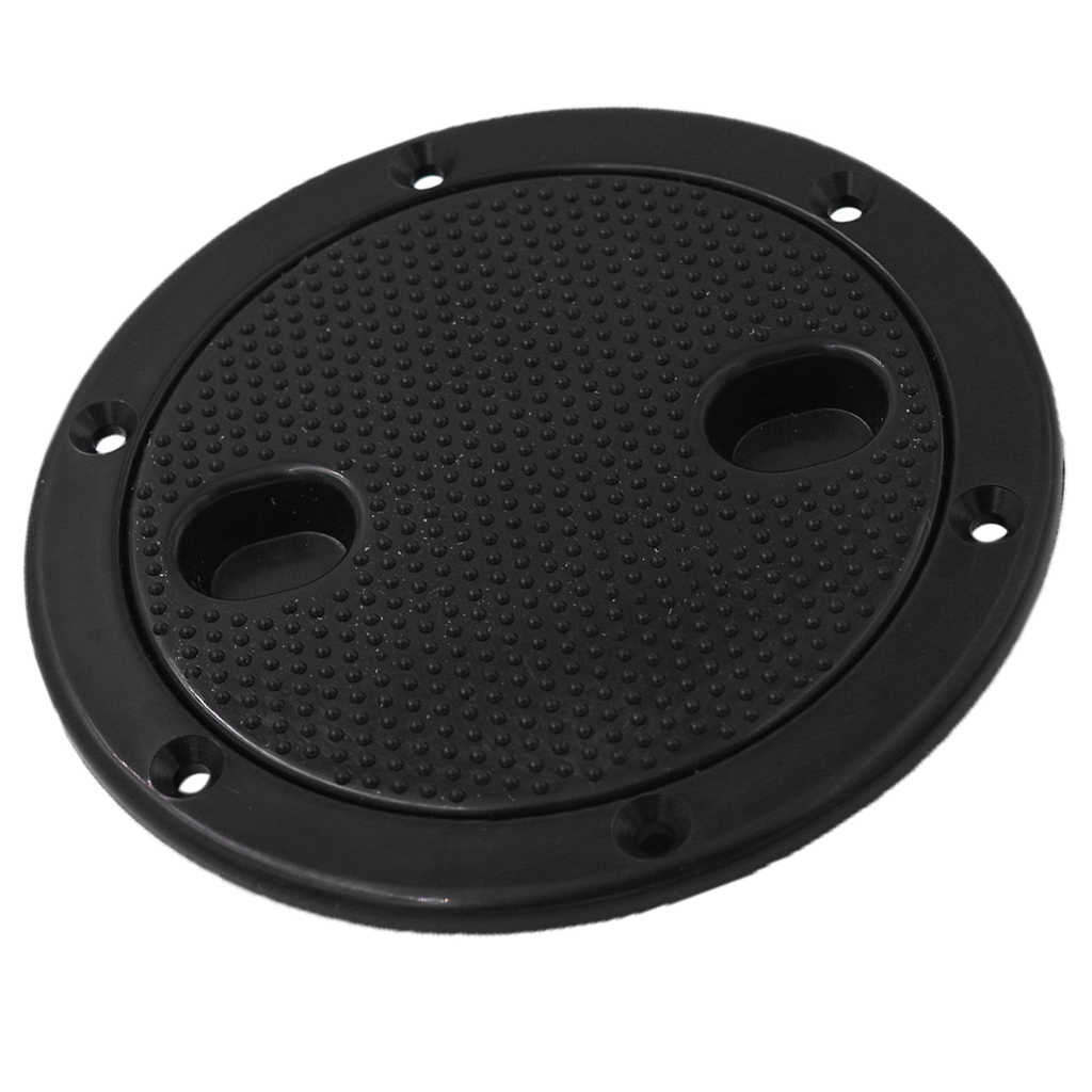 4inch Plastic Screw Out Deck Plate Access <font><b>Hatch</b></font> Cover Deck Cabin Hardware for <font><b>Boat</b></font> Cabin <font><b>Black</b></font> image