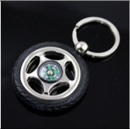 2017 New Product Compass Keychain Tyre Key chain Tire Key ring Keyfob Free Shipping 5311