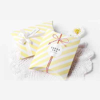 for paper boxes candy ribbon silk large pillow kerchief scarf shape qi gift wedding product size packaging kraft packing gifts box