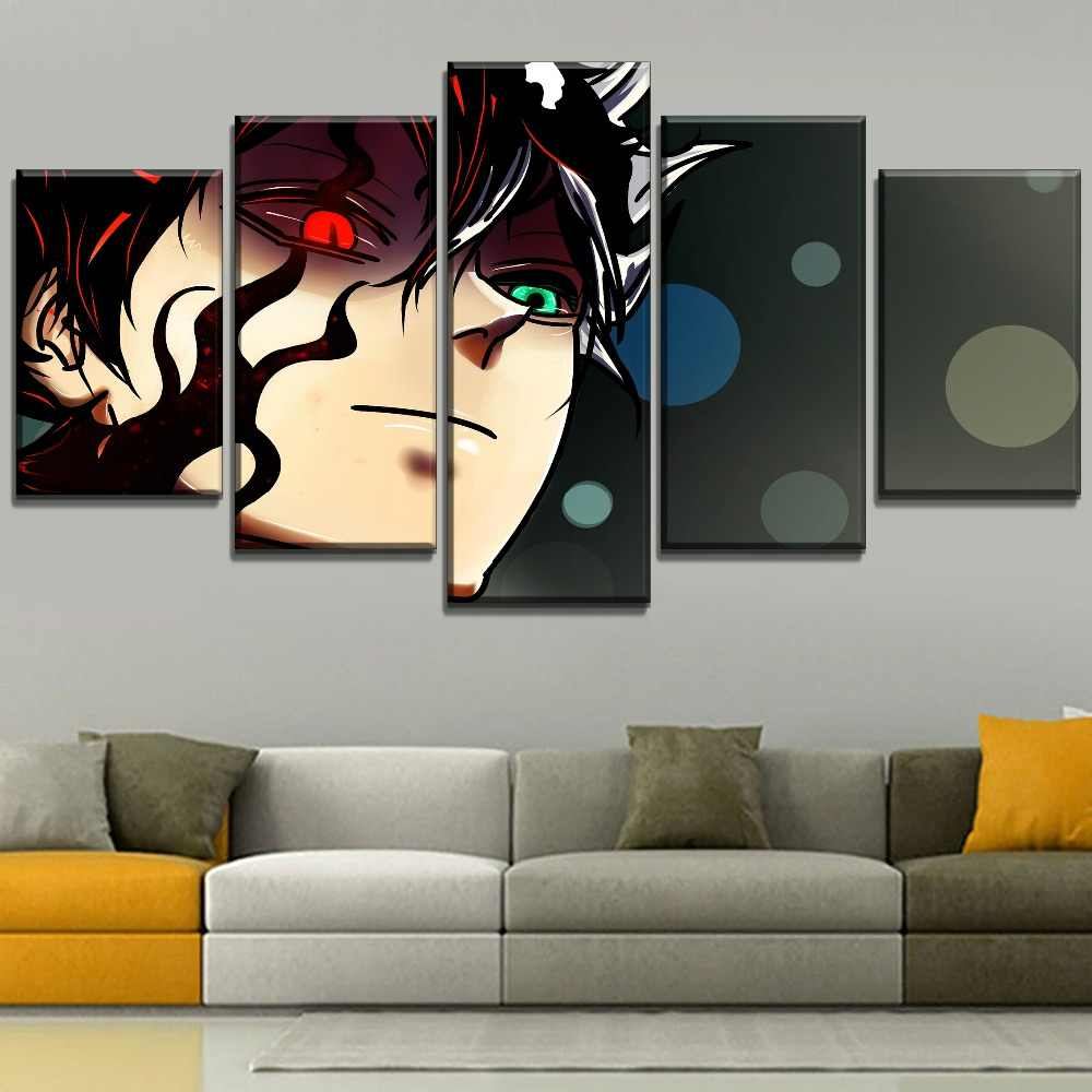 Canvas Wall Art HD Prints Painting Modular Large Asta Anime Black Clover Pictures Home Decoration Poster Living Room Framework