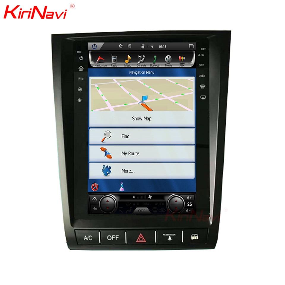 KiriNavi de pantalla Vertical Tesla estilo 11,8 pulgadas Android 6,0 reproductor de DVD del coche para Lexus GS300 GS350 GS400 GS430 GS460 Coche radio GPS