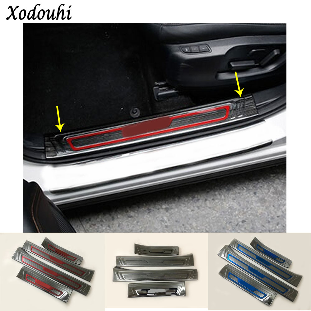Nice Led Lights Car Stainless Steel Door Sills Scuff Plate Fit For Mazda Cx-3 Dual Tone Door Threshold For Mazda Cx3 2015-2018 High Quality Automobiles & Motorcycles Auto Replacement Parts