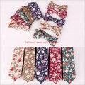 Fashional Mens Diseñador Tela De Traje de Negocios patrón de flores Mariposa Pajarita Lazos Flacos Pocket Square Pañuelo Set Lotes