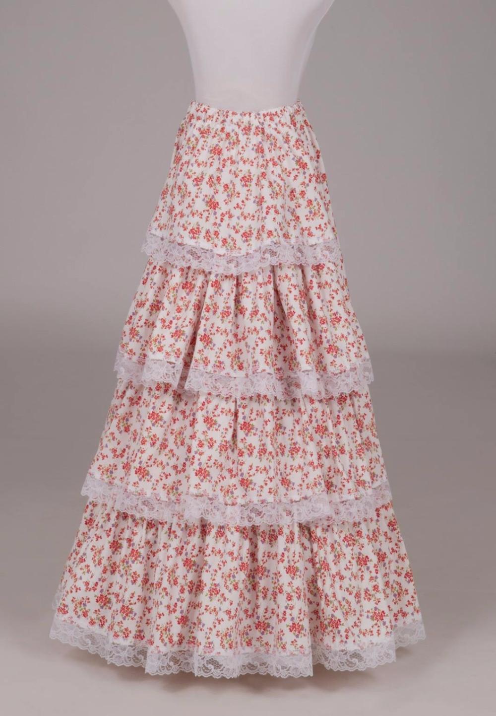 Ruffled Print Victorian Skirt Victorian French Pleated Gathered Bustle Skirts майка print bar victorian ouija