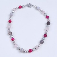 Multi Color Natural Real Pearl Bead Soapstone And Gagte Chocker Necklace Women Necklace Jewellery