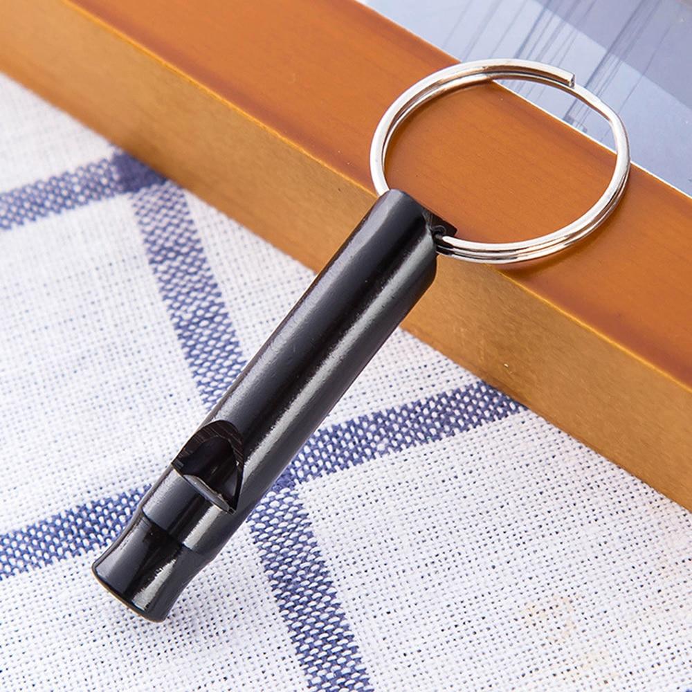 Шт. 1 шт. металлический свисток с брелок для наружного выживания Аварийный мини-размер многоцелевой комплект оборудования высокое качество ...