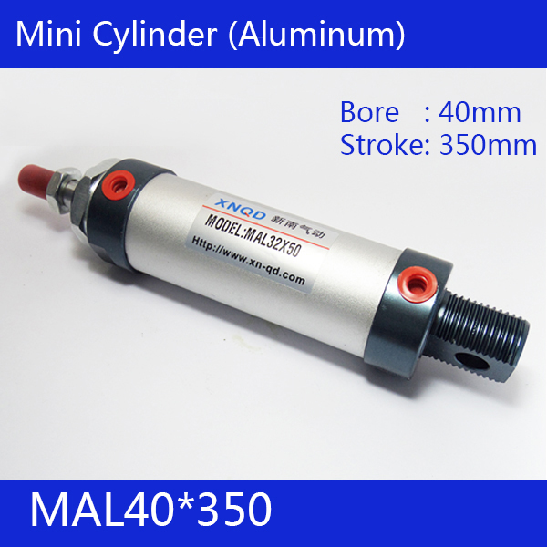 ФОТО Free shipping barrel 40mm Bore350mm Stroke  MAL40*350 Aluminum alloy mini cylinder Pneumatic Air Cylinder MAL40-350
