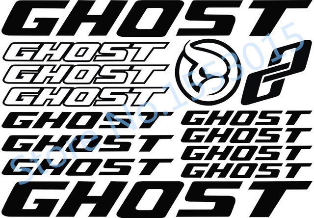 For brand gh ost road bike mountain frame decal bisiklet reflective sticker carved mtb tape bicycle