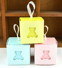 Hot Selling 50pcs/Hollow bear Wedding Favor Box Candy Gift Decoration