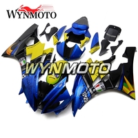 Complete ABS Plastic Injection Blue Yellow Shark New Motorcycle Fairings For Yamaha YZF R6 Year 06 07 2006 2007 Bodywork