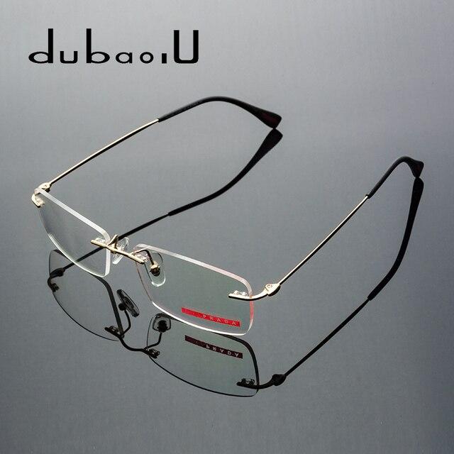 70bc2e617e Alloy Glasses Men Rimless Prescription Glasses Optical Myopia Reading  Progressive Photochromic Anti Blue Eyeglasses  525