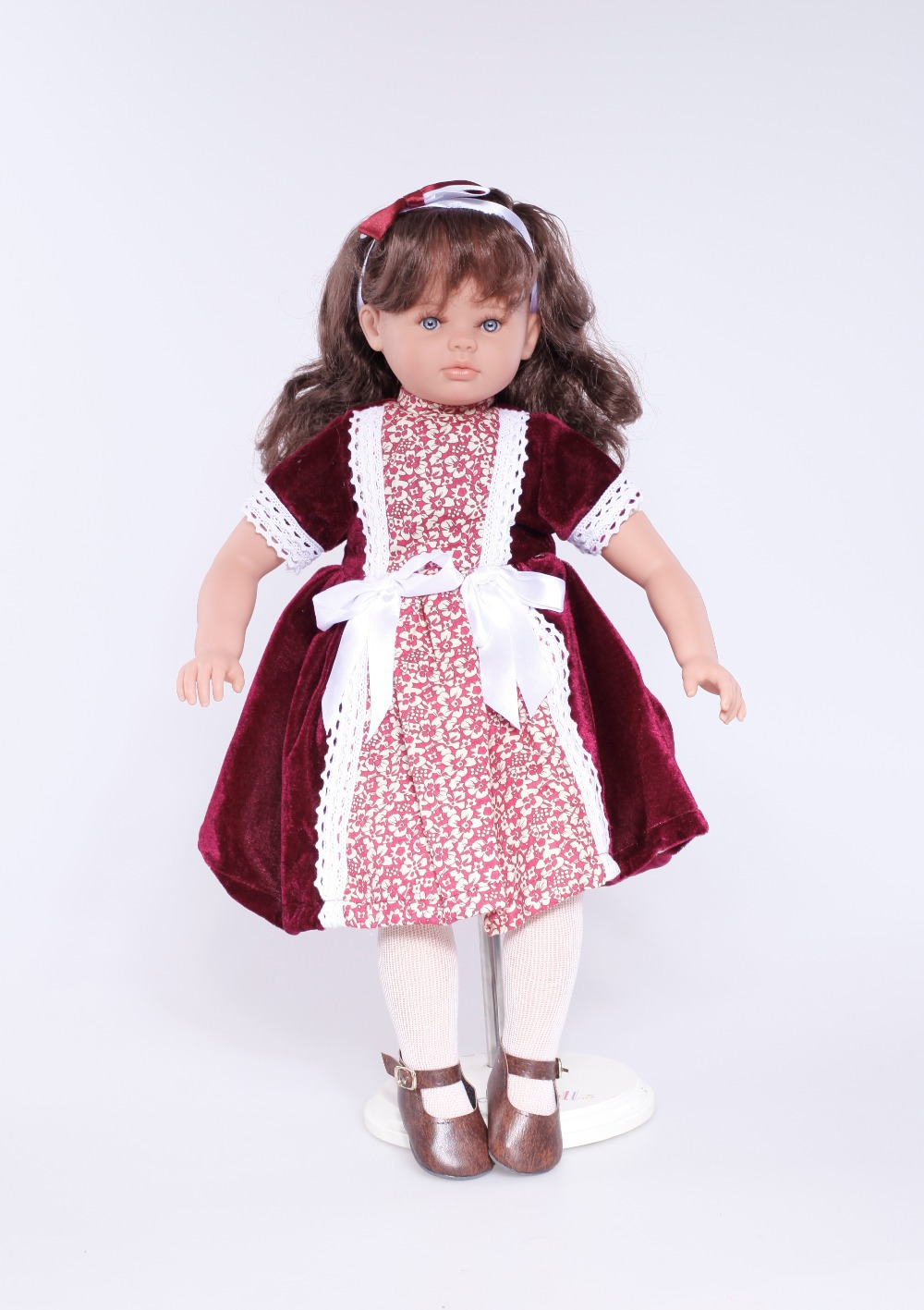 2015 collection Lovely Princess Doll Classic Style 22inches Beautiful Newborn Toys Full Vinyl Doll Rooted Fiber