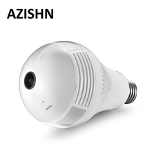 AZISHN 960P 2/3MP Wireless Panoramic IP Camera 360 Degree 3D VR Bulb Light FishEye WIFI Surveillance CCTV Home Security Mini Cam