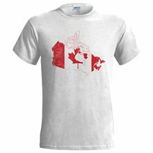 CANADA FLAG MAP DISTRESSED LOOK MENS T SHIRT EMBLEM CANADIAN MAPLE NATION Men TShirt Great Quality Funny Man Cotton Basic Models