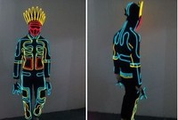 EL costume EL Cold Light Clothing Glowing Dance Clothing EL Indian Luminous Costumes Scintillation Costume Men LED Clothes Cold