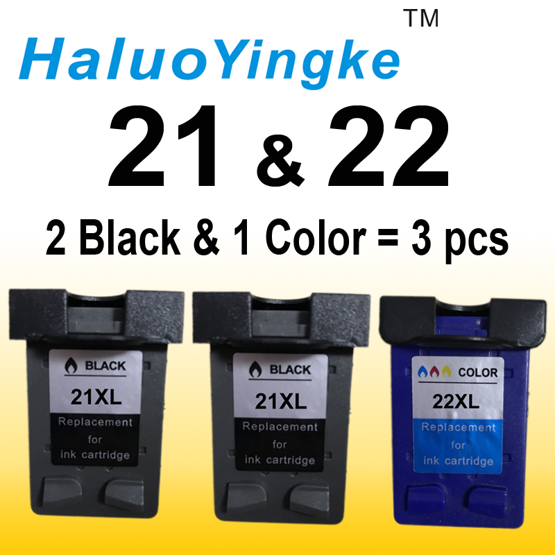 3PCS Replacement For HP 21 22 ink cartridge ( C9351A C9352A ) 21XL 22XL for HP Deskjet 3915 1530 1320 1455 F2100 F2280 F4180 1pk replaces ink cartridge for hp22 c9352a c9352an c9352an 140 suit for deskjet d2320 d2330 d2345 d2360 d2368 d2400 printers