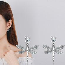 Серьги гвоздики с кристаллами женские ювелирные изделия в Корейском