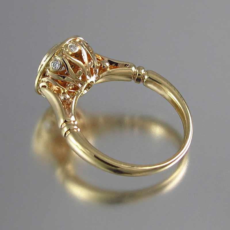 Huitan Golden Color 2PC Bridal Ring Sets Romantic Proposal Wedding Rings Foe Women Trendy Round Stone Setting Wholesale Lots