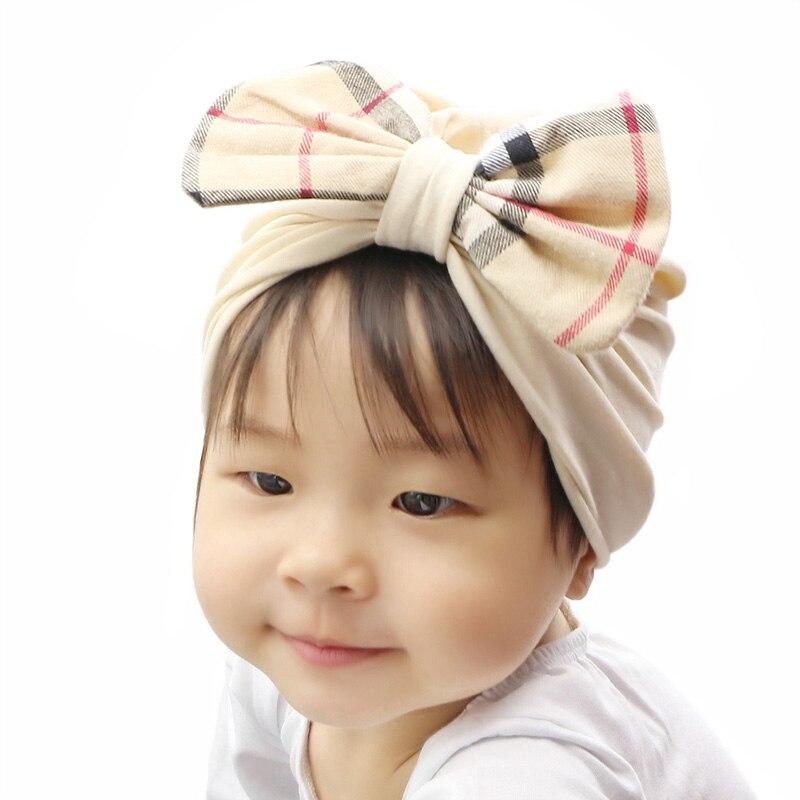 4c893eadb 2018 GZHilovingL Newborn Girls Boys Cotton Soft Hair Turban Bow Hats ...
