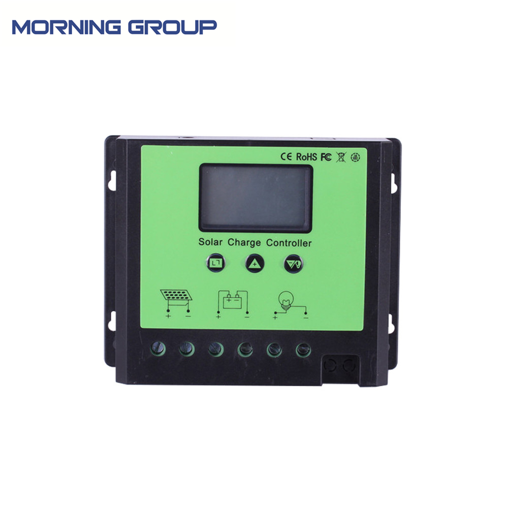 PWM Solar Panel Regulator Controller 12V 24V 48V LCD Screen 40A 50A 60A 20a 12 24v solar regulator with remote meter for duo battery charging