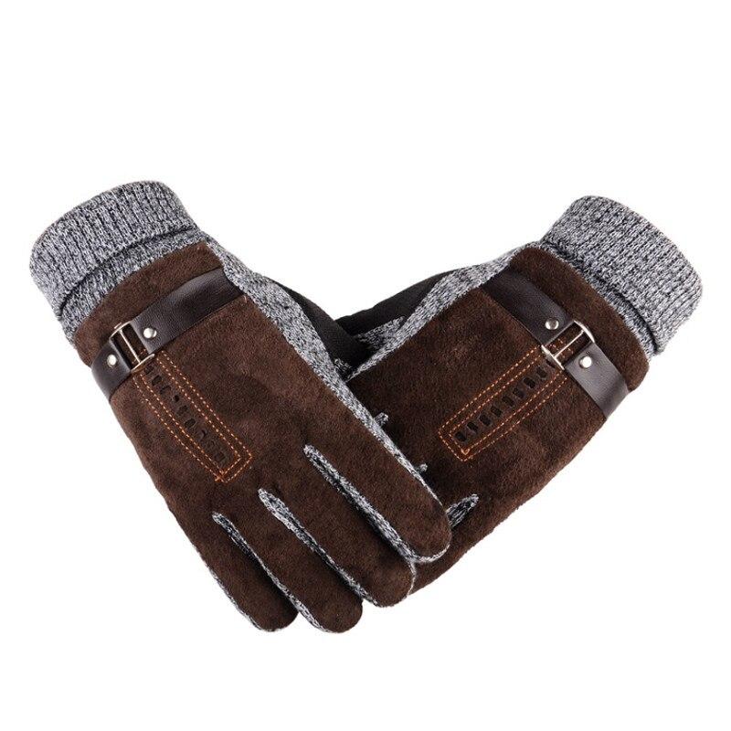 Mens Long Cotton Glove 2018 Winter Wool Knitted Mitten Hand Warmer Handschoenen Warm Fleece Womens Gloves Gants Femme