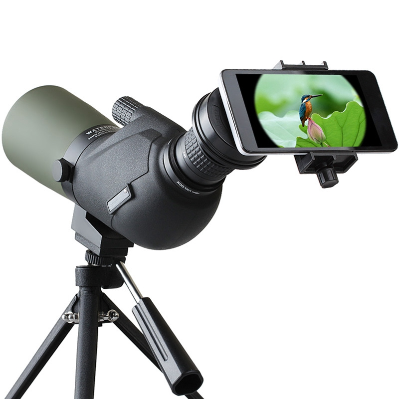 12-45X HD Travel Monocular Lens Waterproof Prism Spotting Scope Bird Watching Telescope Optic Zoom Lens with Tripod for Phones12-45X HD Travel Monocular Lens Waterproof Prism Spotting Scope Bird Watching Telescope Optic Zoom Lens with Tripod for Phones