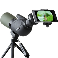 12-45X hd旅行単眼レンズ防水プリズムスポッティングスコープバードウォッチング望遠鏡光ズームレンズで三脚用電