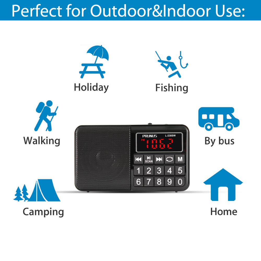 Radios Portable Audio & Video PRUNUS Portable Radio SW/FM/AM NO ...
