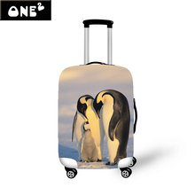 "Penguin/Koala Design Travel Luggage Cover Protective For Trunk Case Apply to 22""~26"" Suitcase Cover Thick Elastic Perfectly"