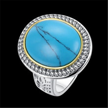 Buy round aquamarine ring and get free shipping on AliExpress.com a9685640a796