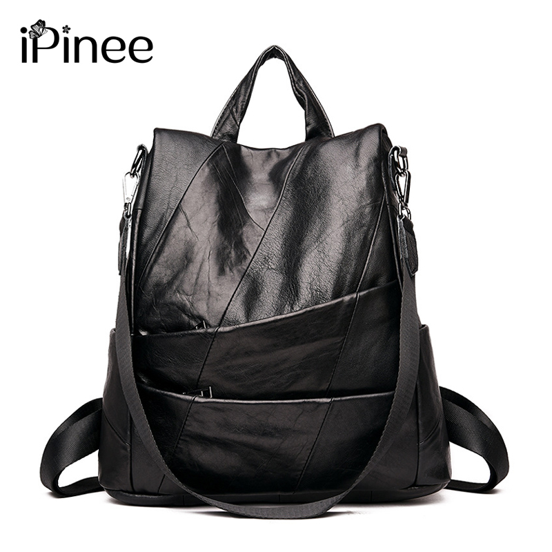 Pinee Genuine Leather Backpack Women Designer Bags High Quality Shoulder Bags New School Bags For Teenagers