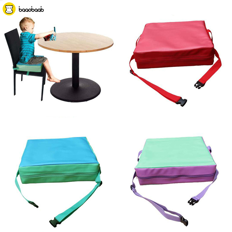 Baaobaab Soft Children Dining Cushion Increased Pad Baby Booster Seat Cushion Adjustable Removable Kids Dining Chair Pram