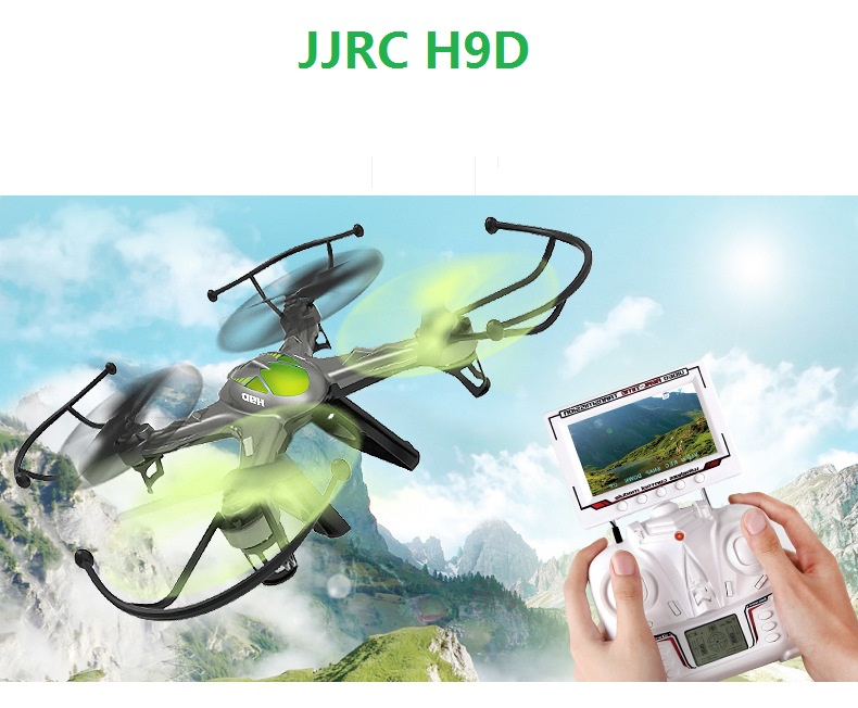 JJRC H9D FPV 6-Axis 4CH Drone kit RC Quadcopter with Camera remote control plane electric helicopter kids toys racing dron