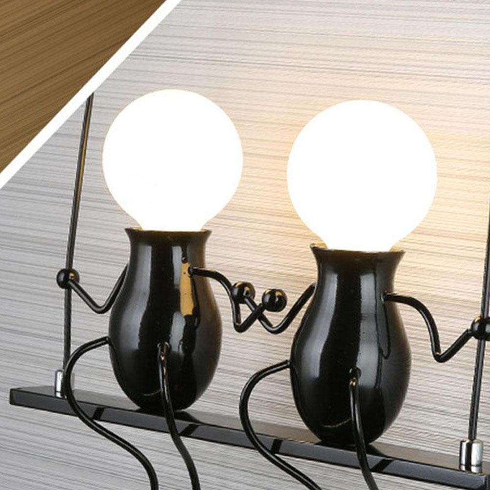 Image 2 - Bedroom Lamp Creative Modern LED Wall Lamp Creative Mounted Iron Sconce Couples Wall Lights Bedroom Corridor Wall Light No Bulb-in LED Indoor Wall Lamps from Lights & Lighting